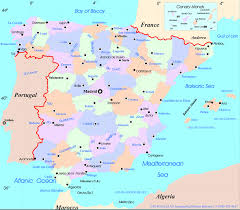 Benidorm Spain Map by Spain Map Travel Map Vacations Travelsfinders Com