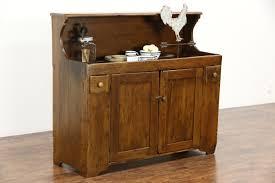 Primitive Kitchen Furniture Country Pine 1880 U0027s Antique Primitive Kitchen Dry Sink Harp