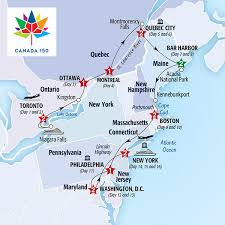 map of eastern usa and canada best of eastern canada and usa summer 2017 insight vacations