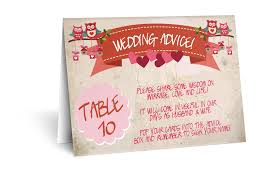 advice cards for the wedding advice cards for reception tables the invite hub