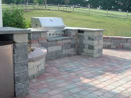 Built In Gas Grills Built In Gas Grill Space Made From Concrete Cobble Block Natural