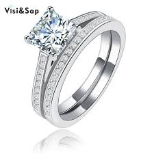 aliexpress buy new arrival white gold color aaa aliexpress buy visisap square aaa cubic zirconia