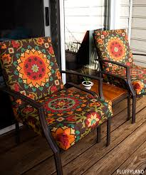 Orange Patio Cushions by Recovered Patio Chair Cushions U2022 Fluffyland Craft U0026 Sewing Blog