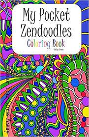 amazon pocket zendoodles coloring book color stress