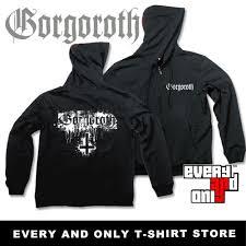metal band sweaters gorgoroth band cross logo fleece hoodies black metal in hoodies