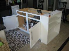 kitchen island cabinet base how to build a kitchen island stock cabinets woodworking