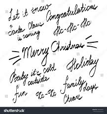 handwriting lettering happy new year merry stock vector 346263005