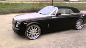 roll royce wraith on rims dubsandtires com 26 inch asanti af145 af 145 chrome wheels 2009