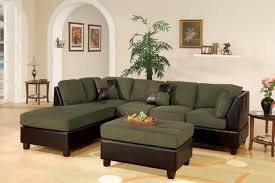 Reversible Sectional Sofa Chaise Poundex F7620 Sage Reversible Sectional Sofa With Ottoman