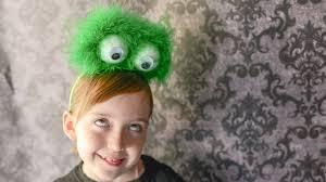 Furry Monster Halloween Costume by Furry Friendly Monster Eyeball Headband Tutorial Youtube