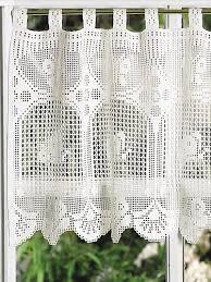 Crochet Valance Curtains 202 Best Crochet Curtains Images On Pinterest Crochet Curtains