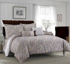 Gray Paisley Duvet Cover Tribeca Living Fiji 5 Piece Cotton Floral Duvet Cover Set