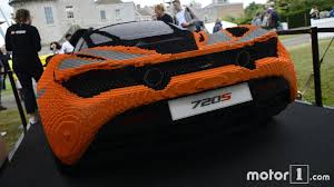 lego mclaren mclaren 720s made from lego in goodwood motor1 com photos