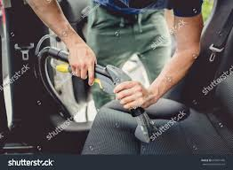 Car Cleaner Interior Details Car Cleaning Male Using Professional Stock Photo 650651476