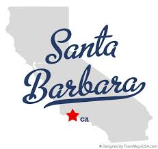 santa barbara california map map of santa barbara ca california