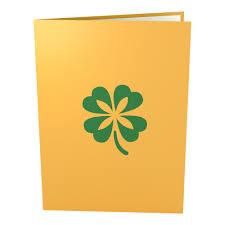 lucky clover st patrick u0027s day pop up greeting card lovepop