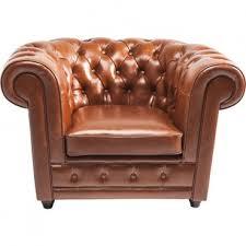 fauteuil kare design fauteuil oxford cognac kare design