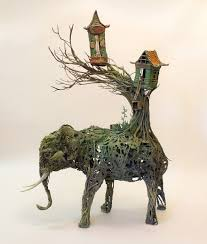 amazing sculptures animals through plants high existence