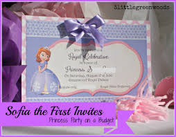Free First Birthday Invitation Cards Sofia The First Birthday Invites