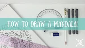 how to draw a mandala youtube