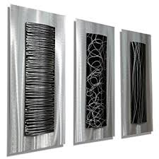 Home Decor Accent Amazon Com Contemporary Black U0026 Silver Abstract Metal Wall Art