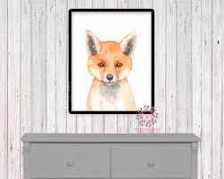 watercolor fox woodland nursery printable wall art print kids baby watercolor fox woodland nursery printable wall art print kids baby boy room playroom poster home decor