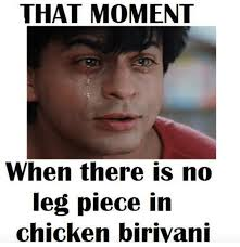 Lovers Meme - 8 things only biriyani lovers can understand chennai memes