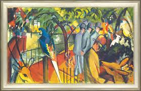 august macke painting zoological garden i 1912 framed