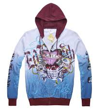 ed hardy mens hoody tattoo design wine skull sales hoodies 023