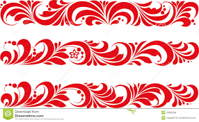 vector russian traditional ornament hohloma stock vector image