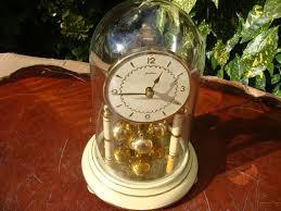 German Clocks Antique Old German Anniversary Dome Glass Clock Mantle Clock