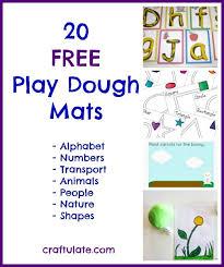 printable alphabet mat 20 free play dough mats craftulate