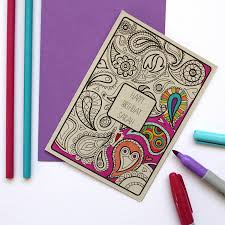 coloring birthday cards colouring in birthday card by adam regester design