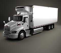 model trucks kenworth kenworth t440 refrigerator truck 3 axle 2009 3d model hum3d