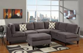 White Fur Ottoman by Furniture Marvelous Grey Sectional Couches For Living Space
