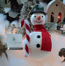de carlini italian blown glass snowman tree ornament