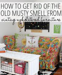 how to get rid of remove the musty smell from vintage