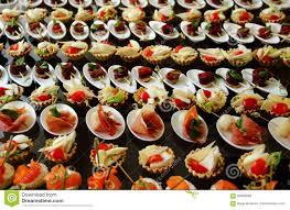 savoury canapes set stock photo stock photo image 83606880
