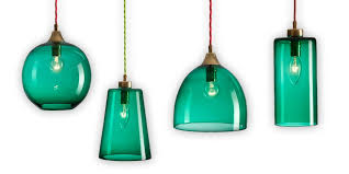 Green Pendant Light Shade Extraordinary Rothschild Bickers Glass Pendant Lights Set Of Four