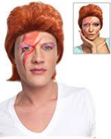 Ziggy Stardust Halloween Costume Amazon Ziggy Stardust Bowie Red Mullet Costume Wig Clothing