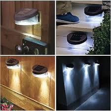 Solar Powered Wall Lights Uk - solar power powered door fence wall lights led outdoor garden shed