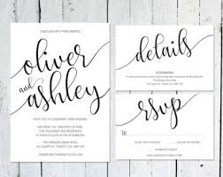 light minimal wedding invitation details card printable