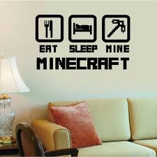 4044 cheap home decoration minecraft wall sticker removable vinyl