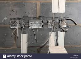 first fix wiring a new home extension stock photo royalty free