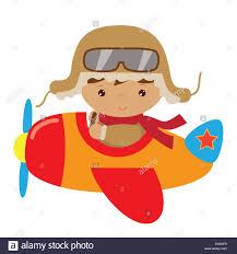 plane airplane pilot aviator boy cute funny cartoon illustration