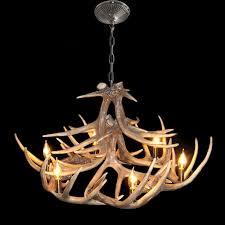 Metal Antler Chandelier Lighting Ceiling Lights Chandeliers Rustic Style Cascade