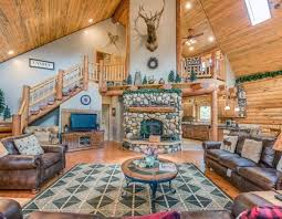 luxury log home interiors luxury log home on fish creek beautiful l vrbo