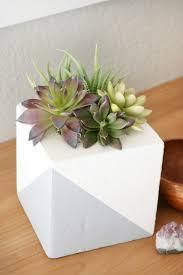 faux concrete planter