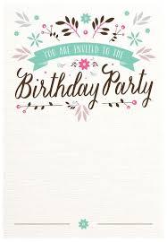 birthday invite template best 25 birthday invitation templates ideas on free