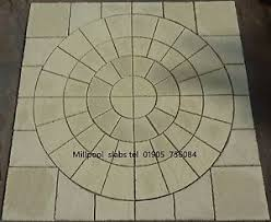 Patio Slab Patterns Paving Circle Ebay